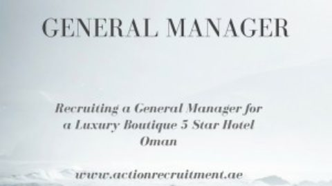 General Manager – 5* Boutique Hotel, Oman