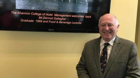 Dermot Gallagher (1969) visits SCHM