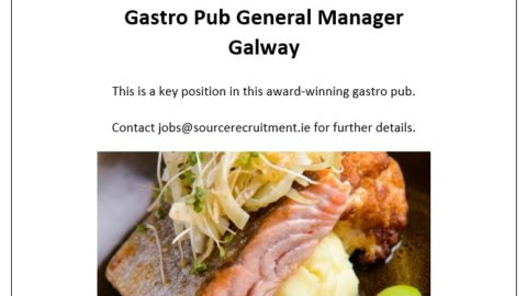 Gastro Pub General Manager – Galway